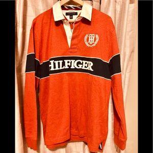 TOMMY HILFIGER Rugby Polo brick orange men LG BNWT